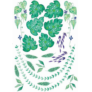 Ready to go Jungalow Decals - Tropical Greenery Set