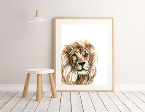 Lion Art Print - A4 or A3