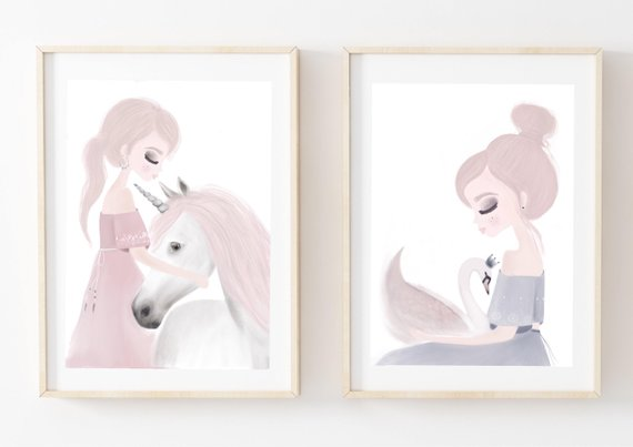 Ivy and Miss Swan - Fine Art Print - My Hidden Forest