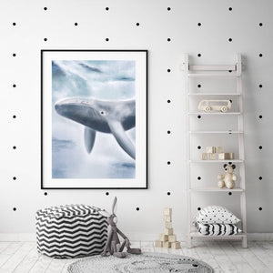 'WILBER THE WHALE' Fine Art Print