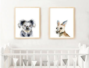 Australian Animal Art Prints, set of 2 prints -  choose from 6 Animals