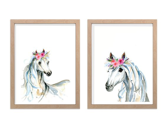 Set of Two Unicorn prints - A4 or A3