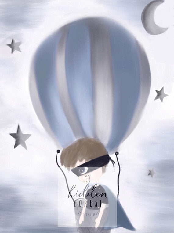 'CHARLIE UP UP AND AWAY' Fine Art Print