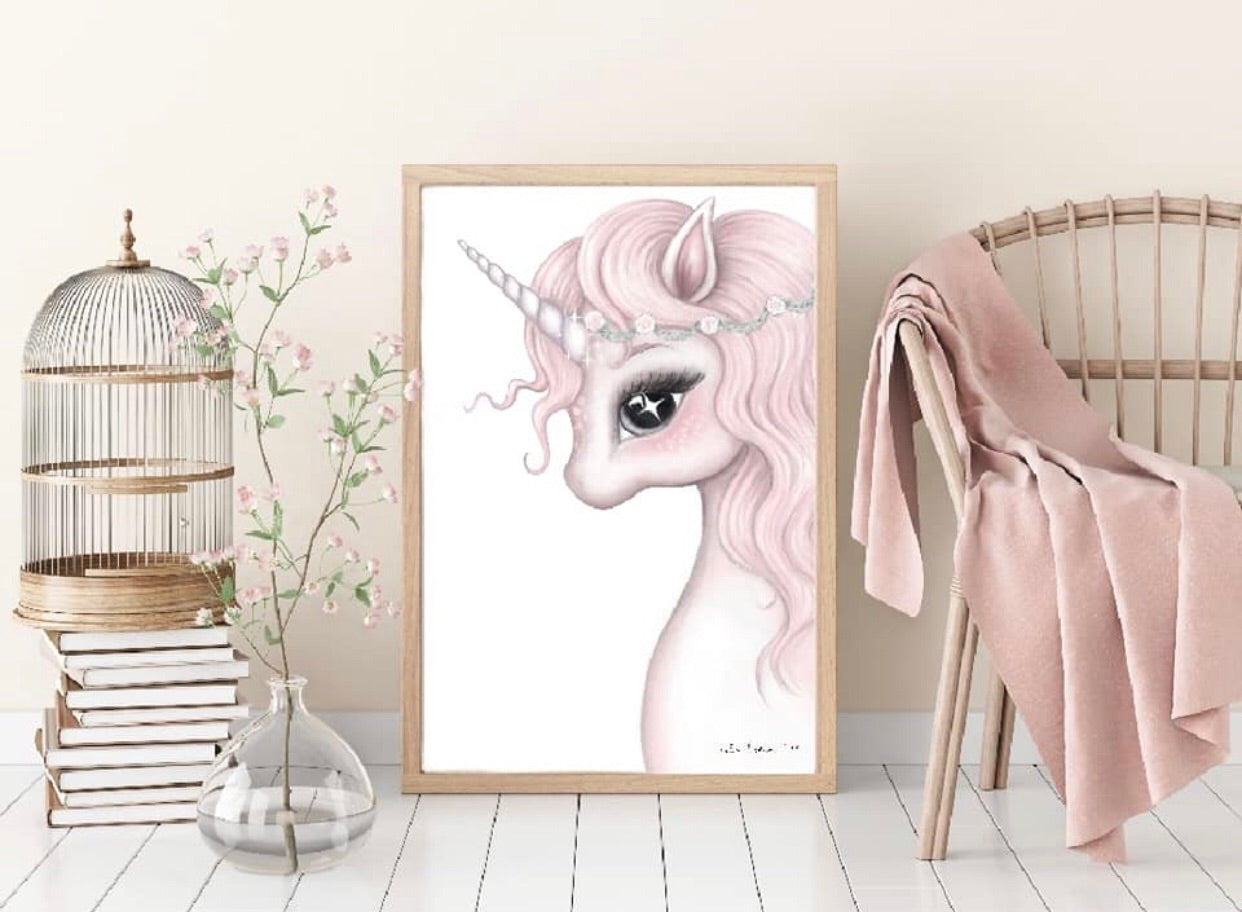 'ROSA' Fine Art Unicorn Print