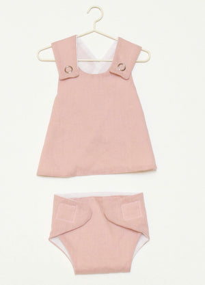 DUSTY PINK DOLLS OUTFIT - LIBERTY LINEN