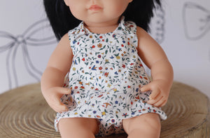 Vines liberty London 38cm dolls dress and nappy