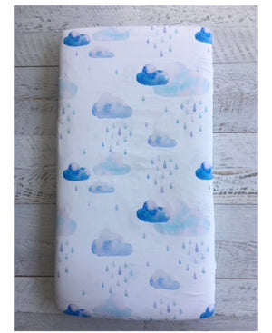 'LITTLE CLOUD' Couture fitted sheet/pillowslip (Cot, single or KS)