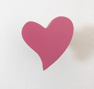 Candy pink heart Wall Hook