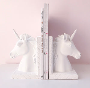 Unicorn Bookends - Classic white  - AUS ORDERS ONLY