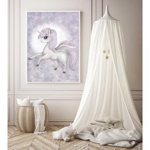Scarlett the purple Pegasis - Isla Dream print