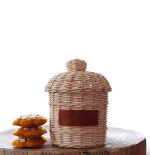 Pre Order Rattan Cookie Jar - Juni Moon 🌙