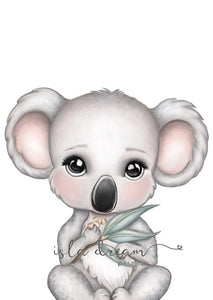 Euca the Koala Girl  - Fine Art Print