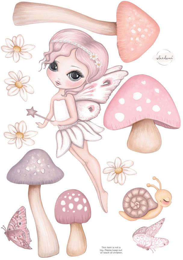 'Grace Flying' Fabric Wall Decals A3