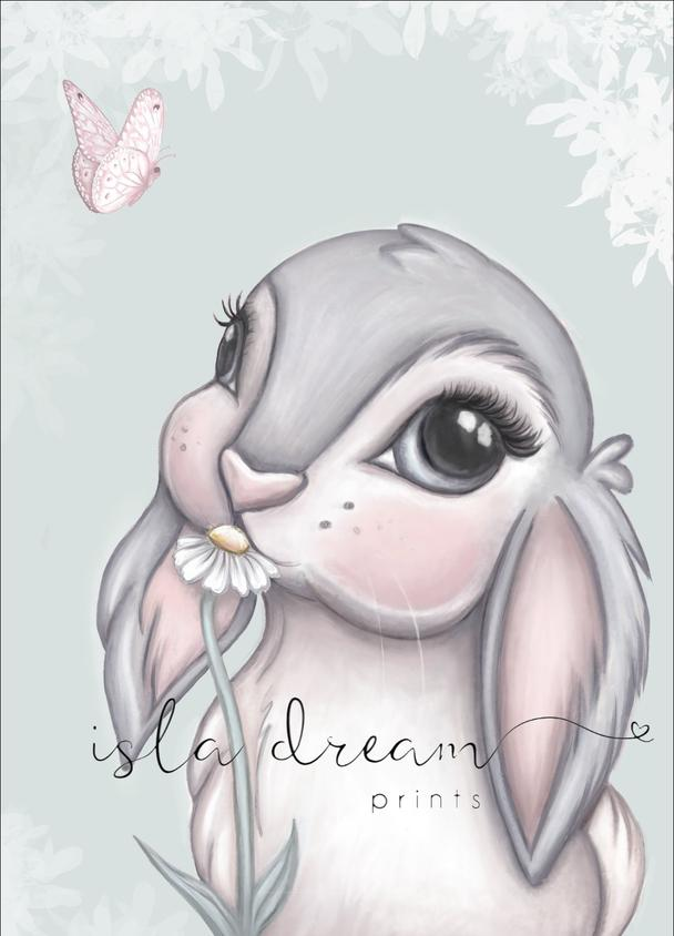 FREYA Bunny Print - Multiple backgrounds