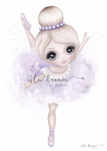 Bella the Ballerina Fine Art Print - Lilac