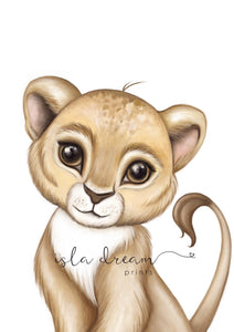 Zeus the Lion cub - Fine Art Print