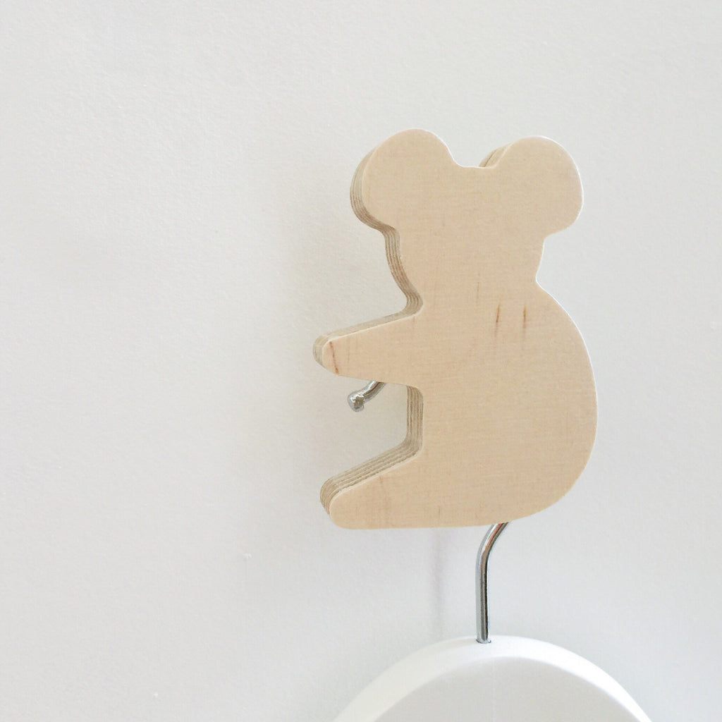 Natural wooden Koala Wall Hook