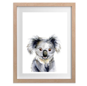 Single Koala print in A4 or A3 - flower crown or without