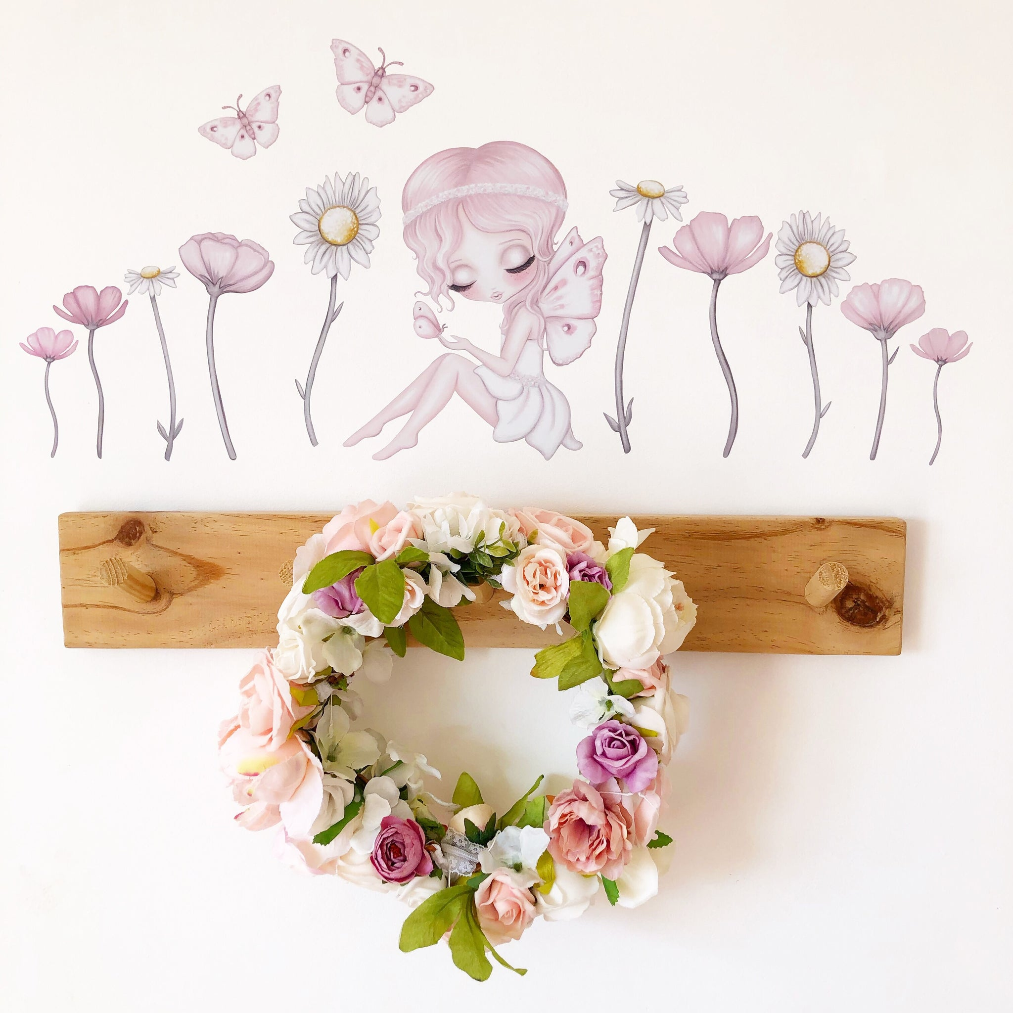 Graces Garden Fabric Wall decals A3