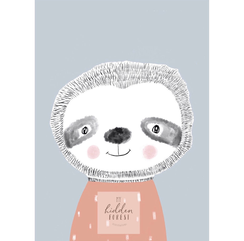 Seth the Sloth - Fine Art Print
