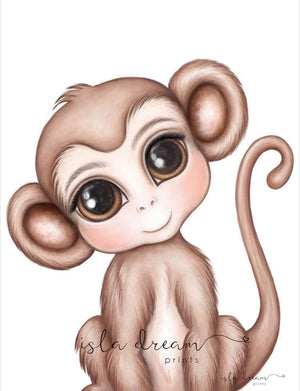 Abu the Monkey - Fine Art Print