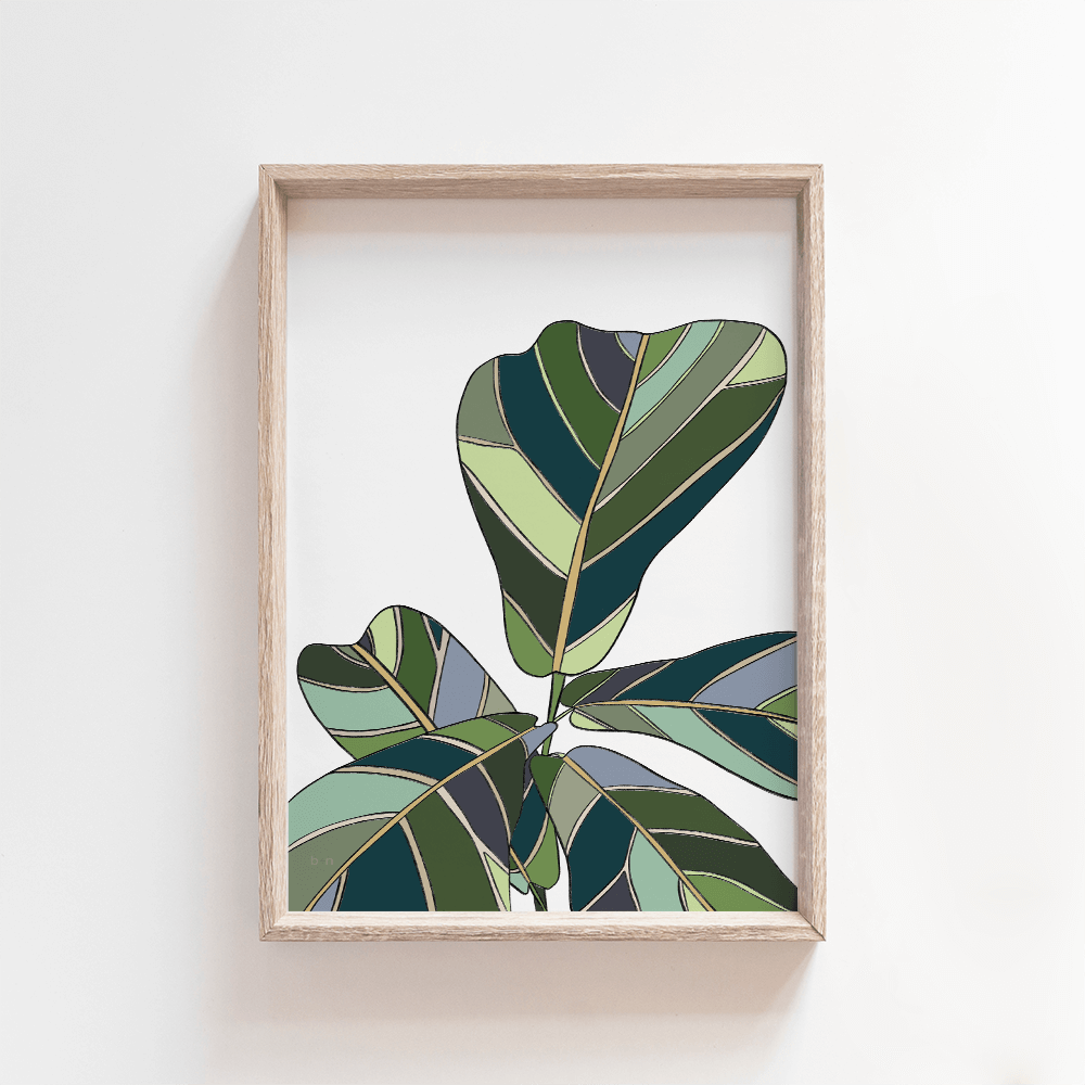 Fiddle Leaf print - A4, A3, A2
