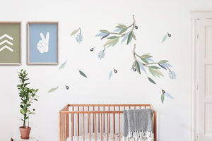 Snowy River Wall Decals - cloud colour way