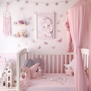 Butterflies 'Fairy magic' Fabric Wall Decals