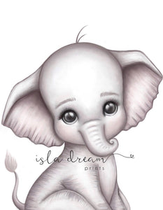 Theodore the Elephant - Fine Art Print