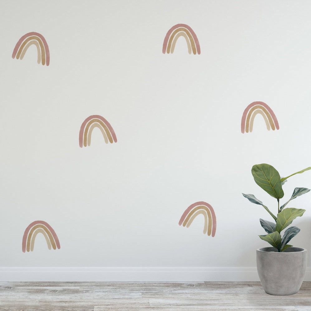 Desert Rainbow small wall decals 12 pack