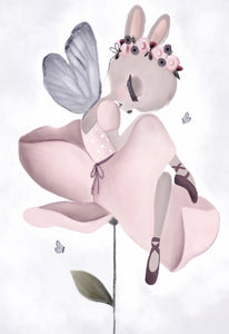 Lily the Butterfly Fairy bunny - Fine Art Print