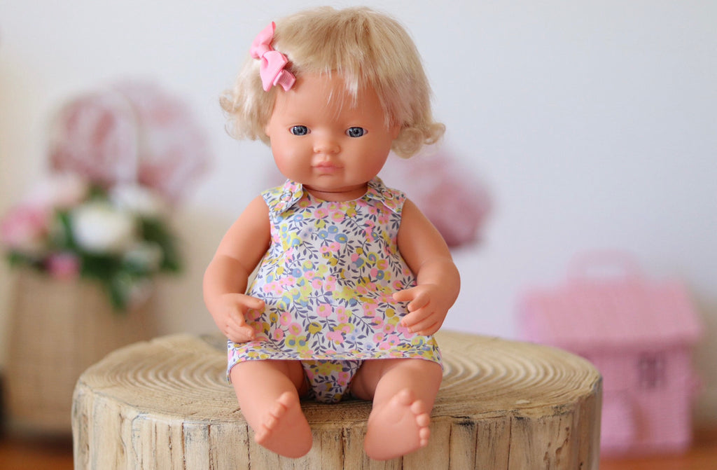 TWO PIECE LIBERTY DOLL SET- POMELO