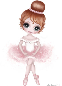 Ruby The Ballerina Print - Pink