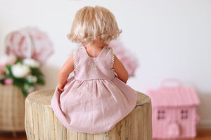 JESSIE DOLLS DRESS - LIGHT PINK