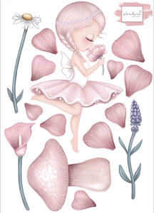A4 CRYSTA the FAIRY wall decals A4 and A3