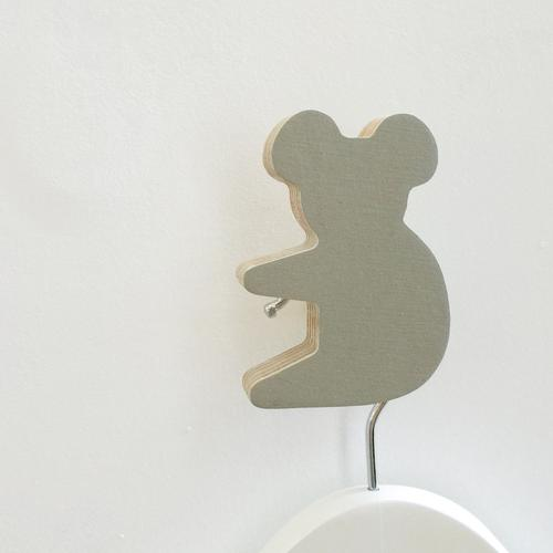 Koala Wall Hook - Grey