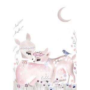Mummy and me Fawn - Fine Art Print