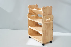 Solid Wooden 3 tiered Trolley