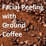 facial peeling with coffee