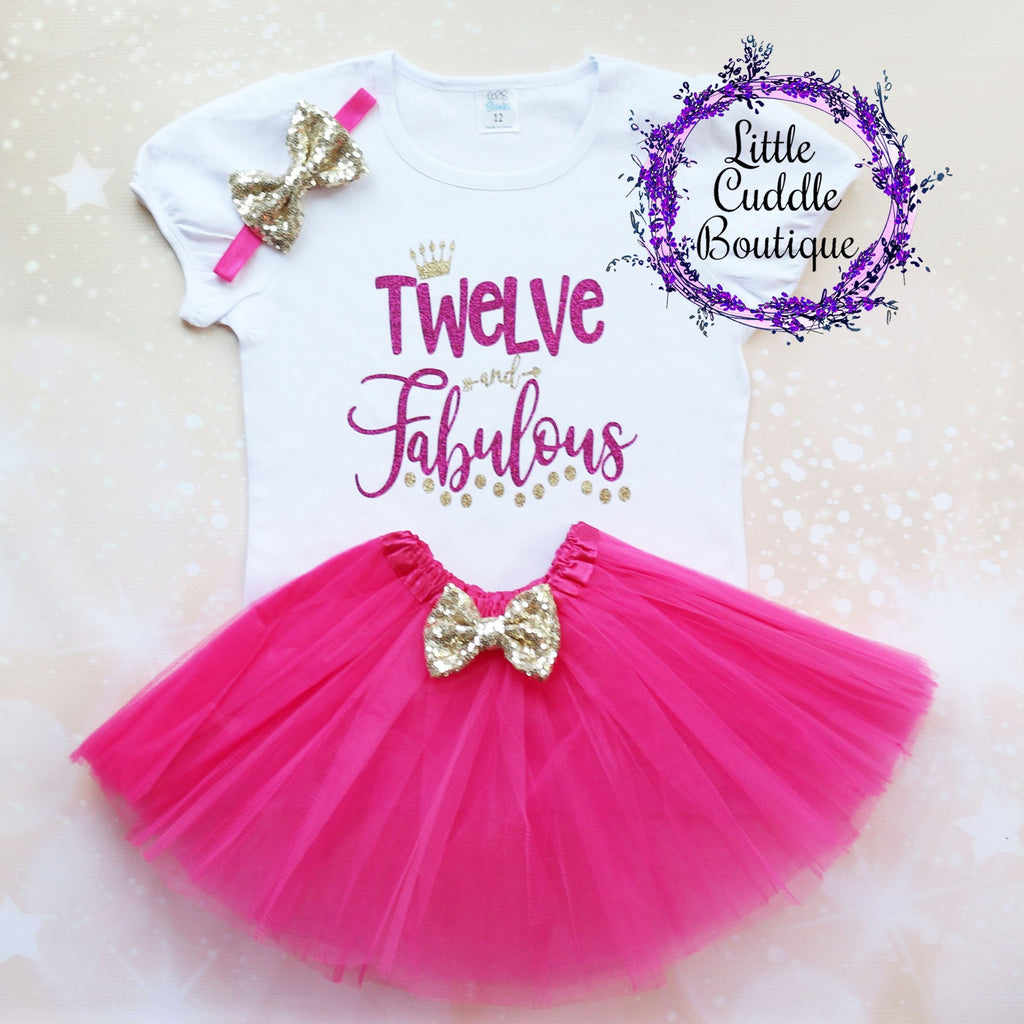 Twelve And Fabulous Birthday Tutu Outfit