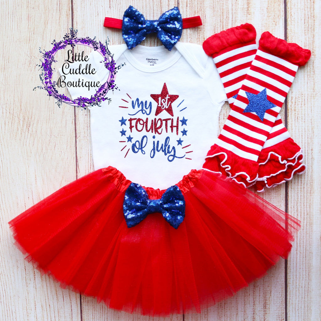 My 1st Fourth of July Tutu Outfit