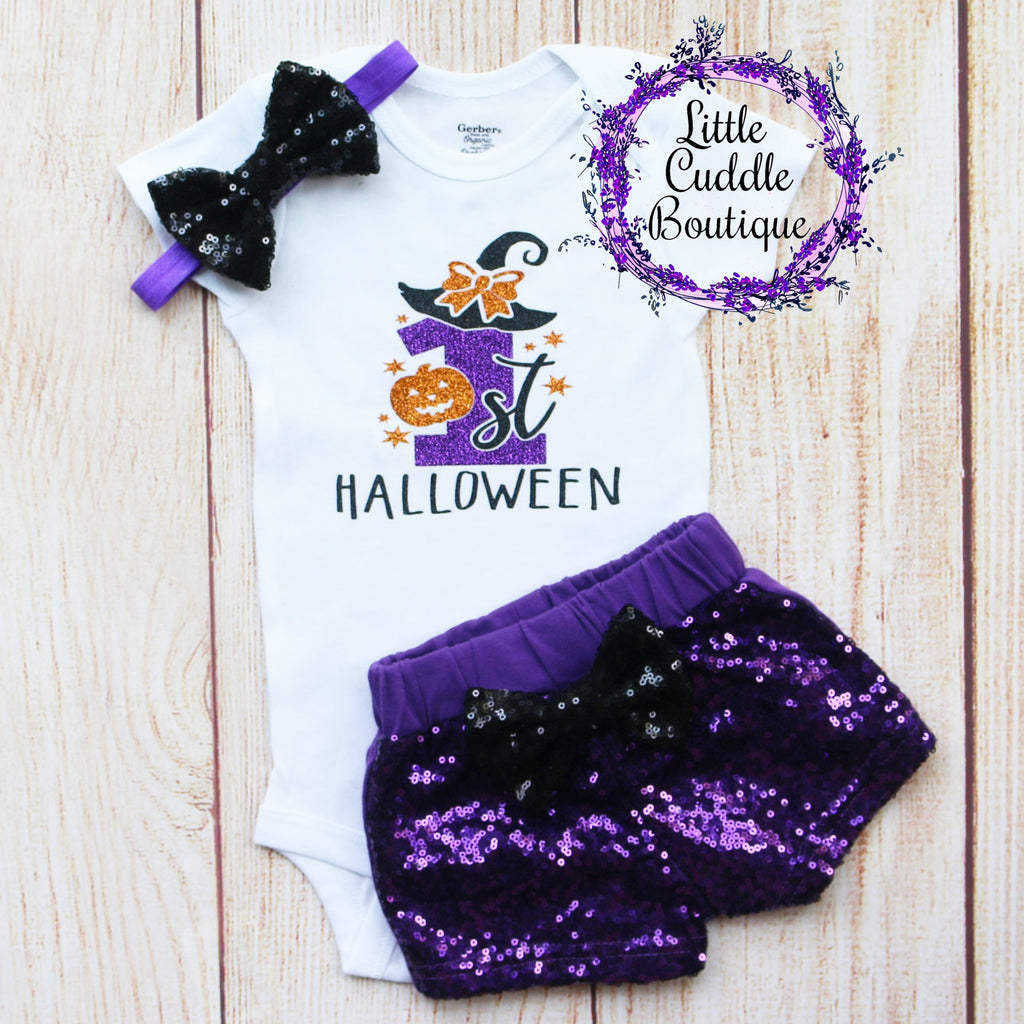 First Halloween Shorts Outfit