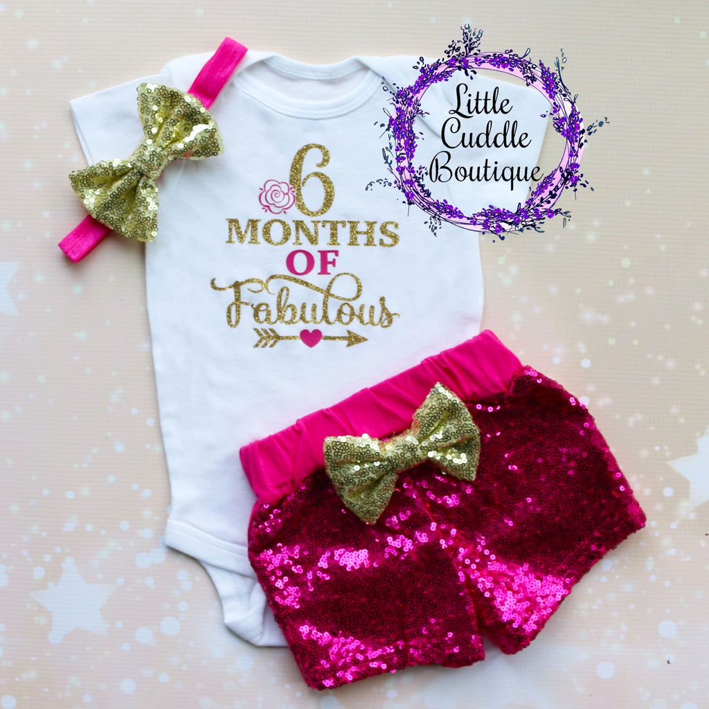 6 Months Of Fabulous Baby Shorts Outfit