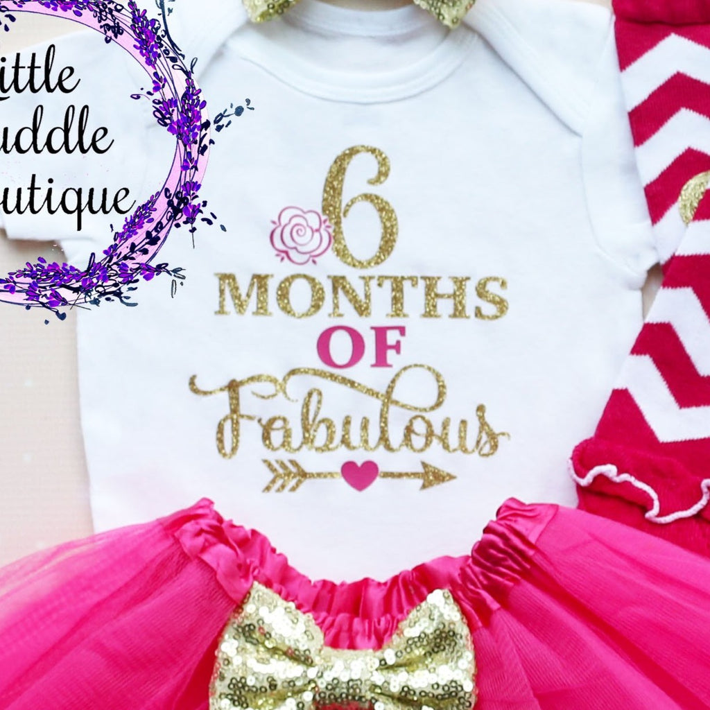 6 Months Of Fabulous Baby Tutu Outfit