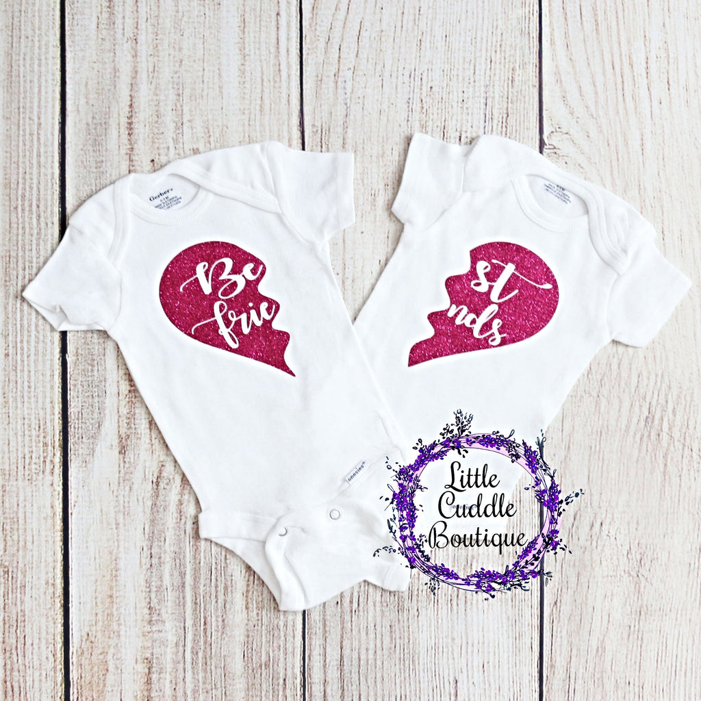 Best Friends/Twin Girl Bodysuits