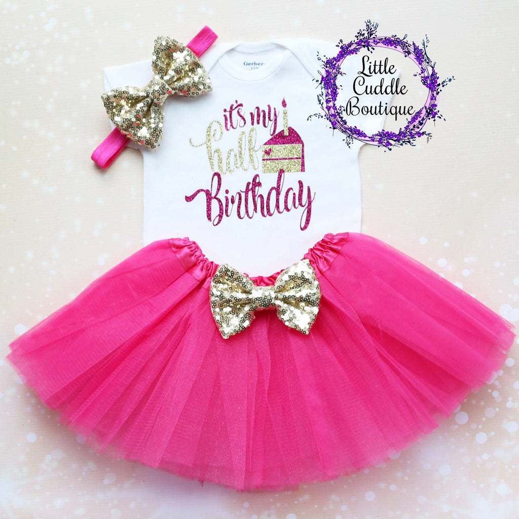 It's My Half Birthday Baby Tutu Outfit