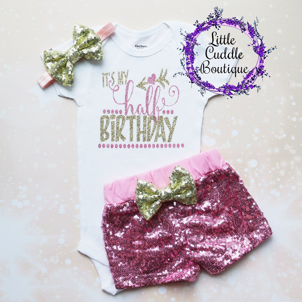 It's My Half Birthday Baby Shorts Outfit
