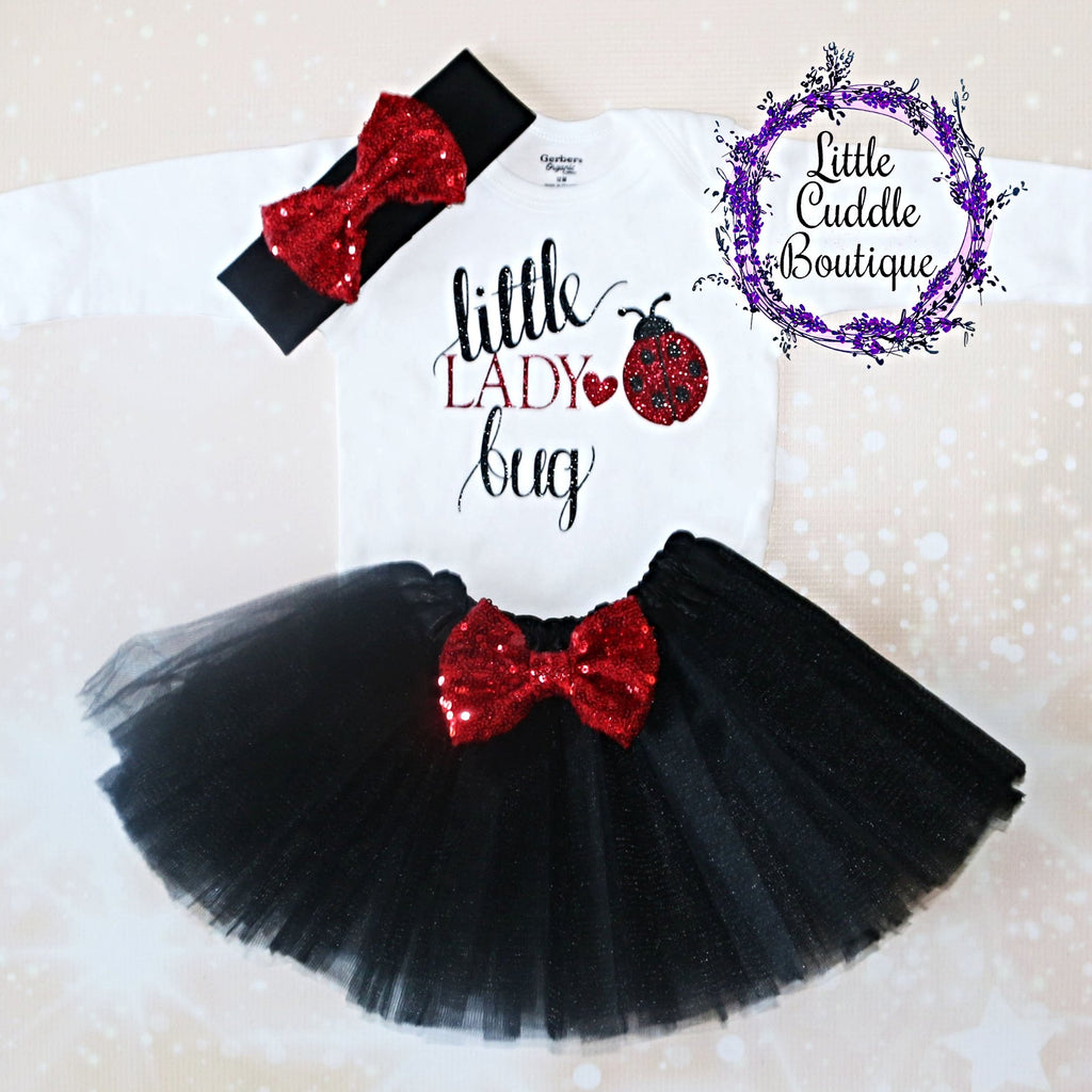 Little Lady Bug Tutu Outfit