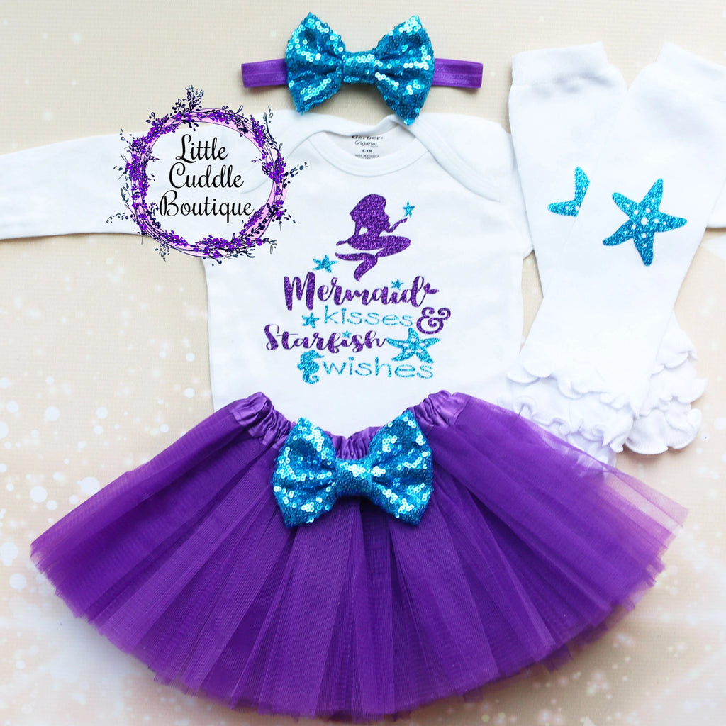 Mermaid Kisses And Starfish Wishes Tutu Outfit
