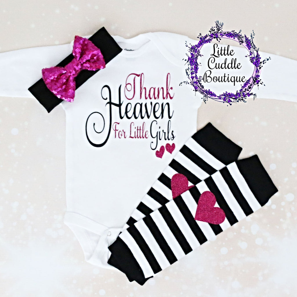 Thank Heaven For Little Girl Leggings Outfit
